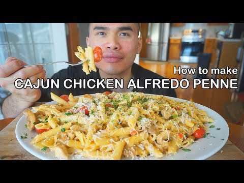 How To Make CAJUN CHICKEN ALFREDO PENNE PASTA
