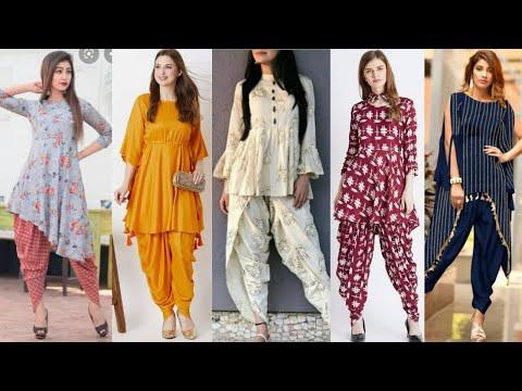 Latest Anarkali Kurti/kuta with Dhoti|College Wear Dhoti Salwar Suit Designs|Frock kurti With Dhoti.
