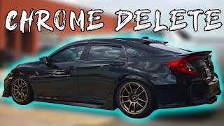 D.I.Y Window Chrome Delete - 2018 Honda Civic Si + Mugen Window Visors