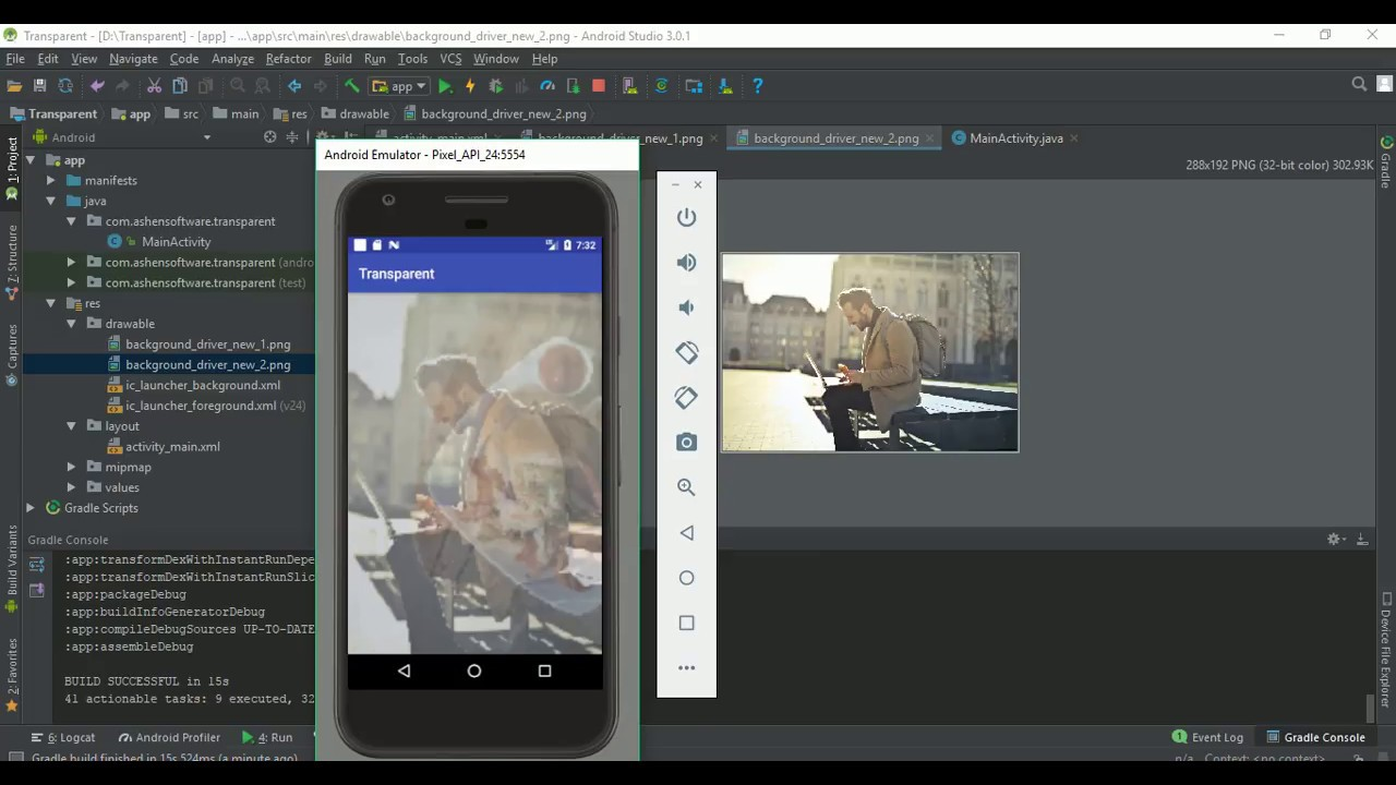 How To Make Android Imageview Transparent As Percentage Youtube