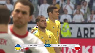 PES 2016 - UEFA Euro 2016 - Ukraine vs Poland | Gameplay (HD) [1080p60FPS]