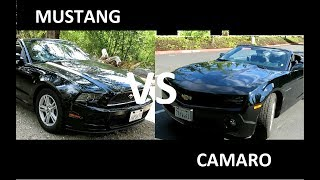 2013 Ford Mustang vs Chevrolet Camaro кабриолеты на русском