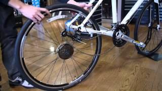 車輪の外し方 リア(後輪)Vブレーキ(MTB・クロスバイク) thumbnail