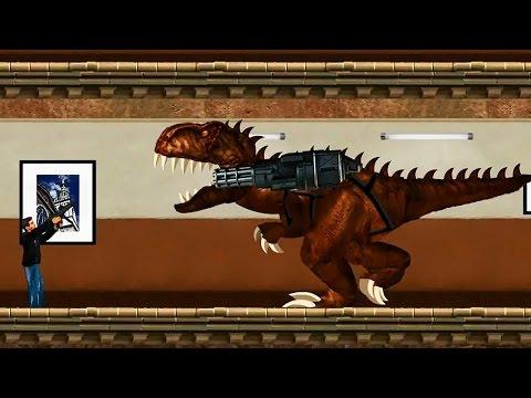 Динозавр ТИРЕКС. Жестокий Динозавр Тираннозавр Рекс нападает на людей. Игра Тирекс Игрушки ТВ