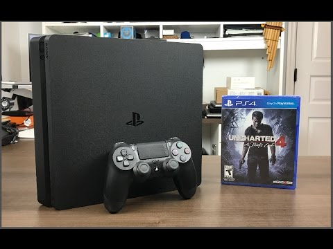 PlayStation 4 Slim 500GB con Uncharted 4 Unboxing - YouTube