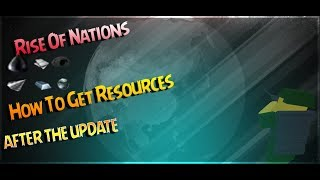 Rise Of Nations Comment obtenir des ressources -Roblox AFTER THE UPDATE