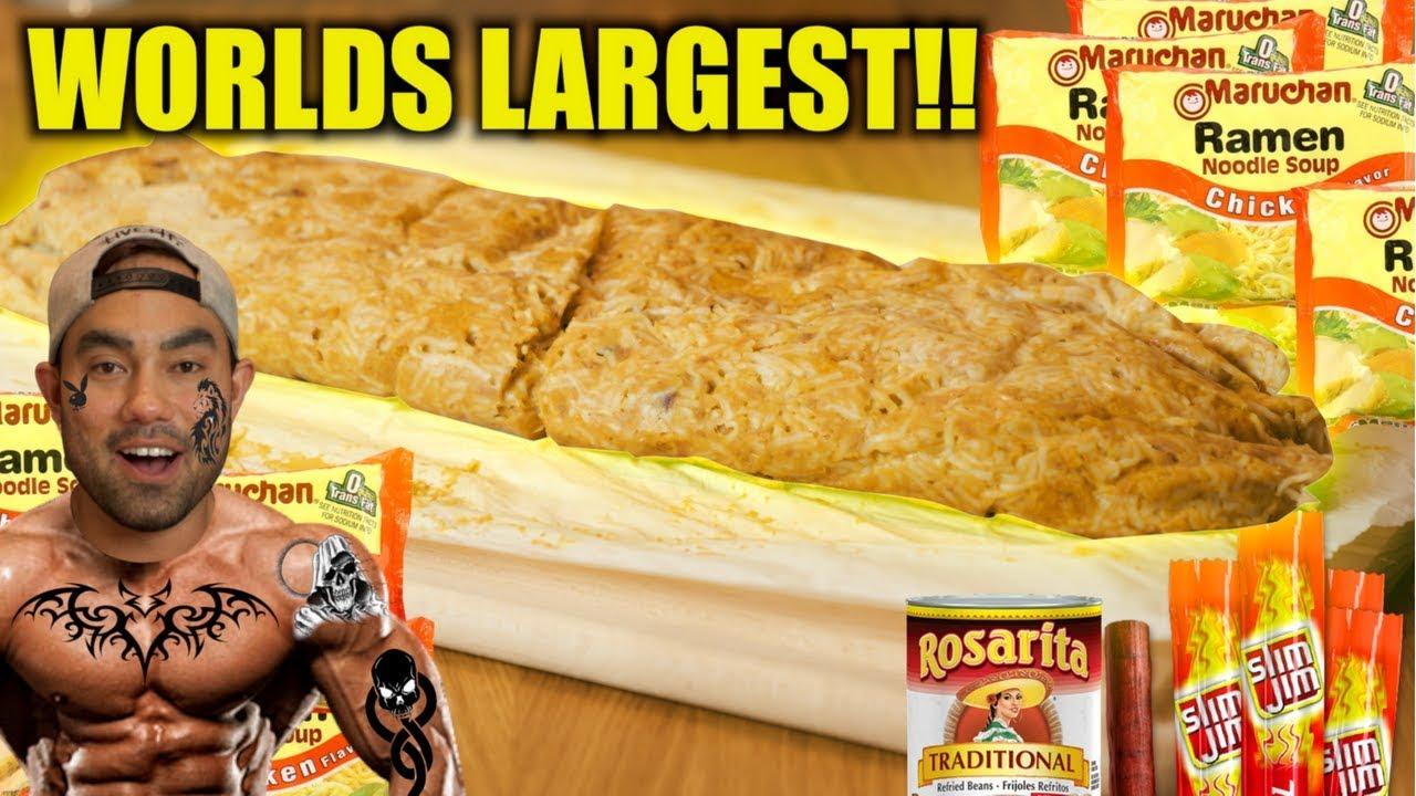 Giant Prison Burrito Challenge Diy Eat 6000 Calories