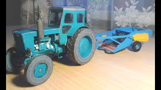 Трактор Т-40АМ з паперу від NOVAMODEI. How to make a tractor out of paper