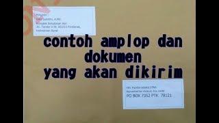 contoh amplop dan dokumen CPNS  yang akan di kirim