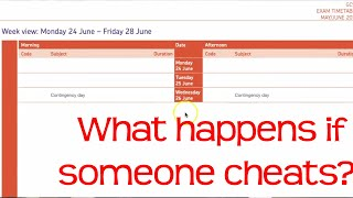 What happens if someone cheats in an exam | Extra Exam date 26th June 2019