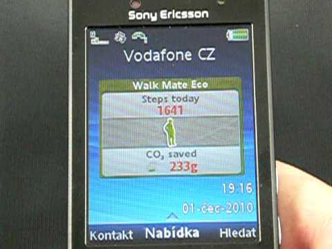 Sony Ericsson Hazel - prostředí