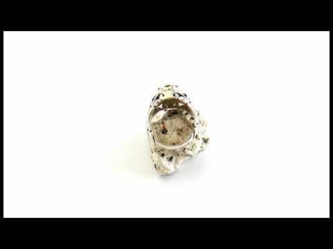 انگشتر یاقوت زرد مرغوب شاهانه مردانه - کد 26264