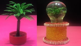 How to make snow globe from waste fuse bulb  best out of waste