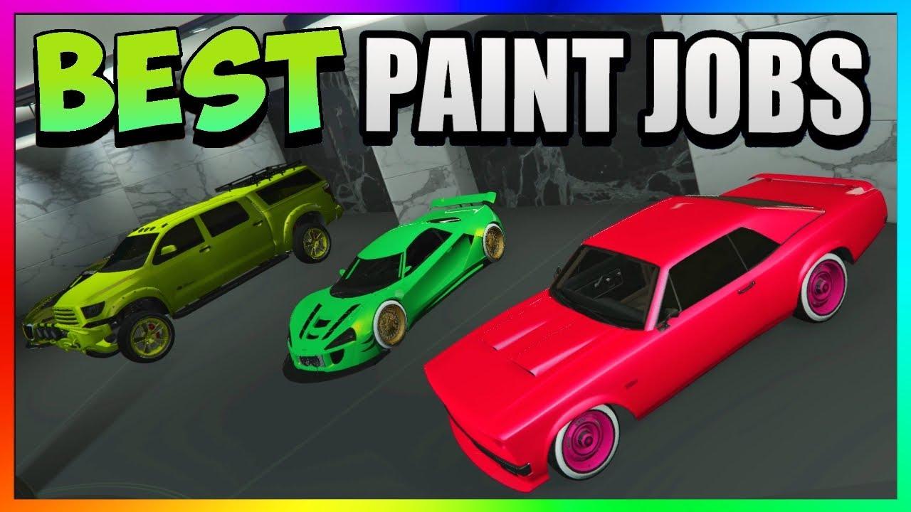 Gta 5 Online Top 3 Best Rare Paint Jobs Modded Car Color Schemes Gta 5 Paint Jobs 1 45