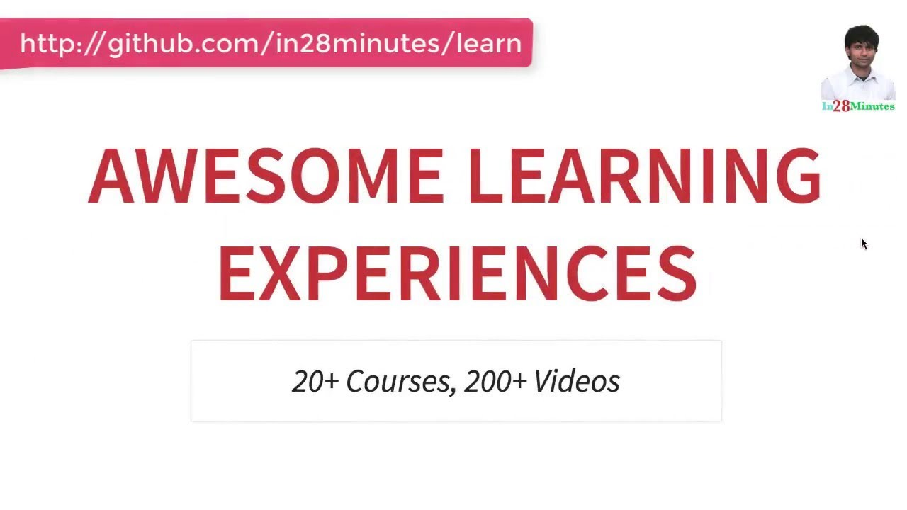 in28Minutes Roadmap - Java, Spring Boot, REST, Microservices Learning Path