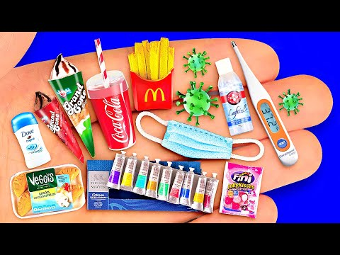 14 ACTUAL DIY MINIATURE REALISTIC FOOD AND DRINKS FOR DOLLHOUSE BARBIE