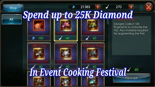 Spend Up To 25K Diamond, In event Cooking Festival. Legacy Of Discord