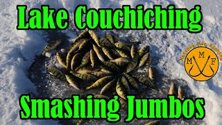 BEST DAY OF PERCH FISHING EVER!? (2019 Lake Couchiching Ice Fishing)