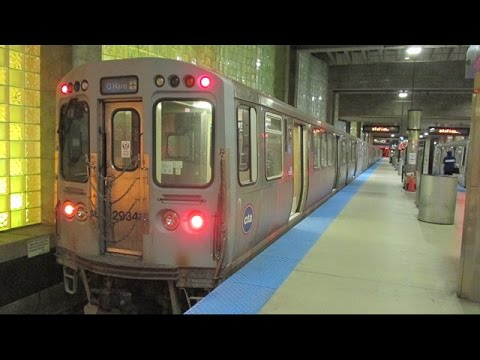 Chicago Transit Authority 'L' Train - Blue Line (Damen - O'Hare)