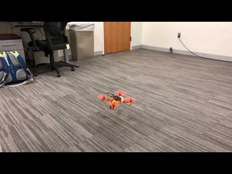 Flying my drone in my grad student office @ Brown