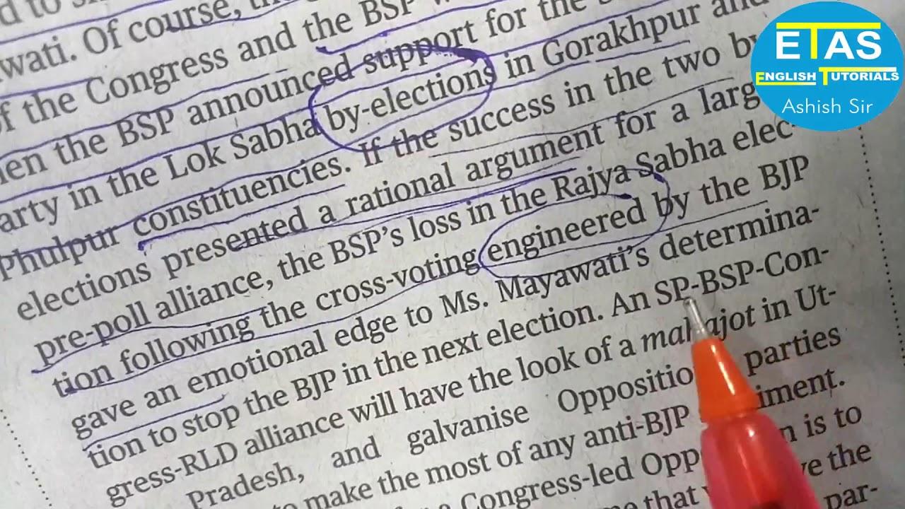 The Hindu Editorial Words