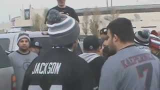 San francisco 49ers vs oakland raiders fans brawl at the battle of the bay