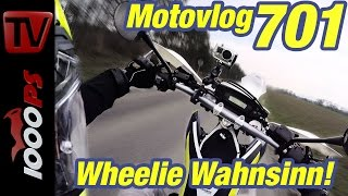 Husqvarna 701 Wheelie Wahnsinn! | Wheelies richtig lernen | Motovlog Teil 2