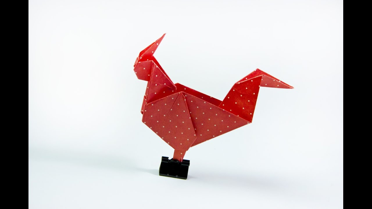 How To Make A Paper Rooster
