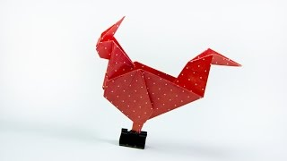 How to make a paper rooster | Easy Origami Rooster
