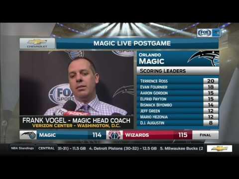 Frank Vogel -- Orlando Magic at Washington Wizards 03/05/2017