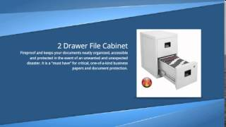 2 Drawer File Cabinet By Sentry | Fireproof Locking Metal 2 Drawer File Cabinet For Your Office