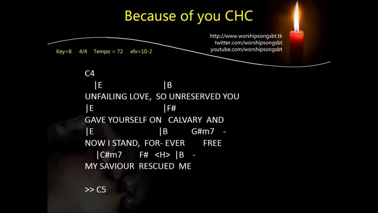 City Harvest Church CHC - Because of you Chords - Chordify