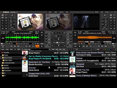 DJ Software Video Tutorials - Using Learn And Changing Font
