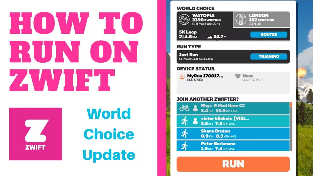How to Run on Zwift   World Choice Guest Map