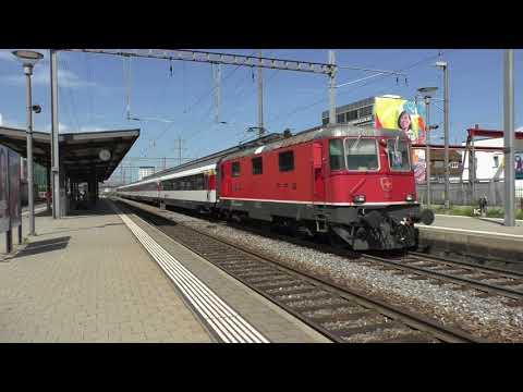 (HD) Trains at Pratteln/Züge Am Bahnhof Prattlen - 31/7/17