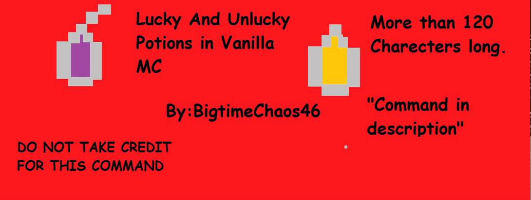 Minecraft Command  Lucky and Unlucky Potions