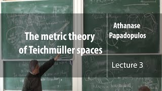 The metric theory of Teichmüller spaces. Лекция 3 | Athanase Papadopulos | Лекториум