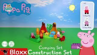 Építőjáték Peppa Pig Camping szett PlayBIG Bloxx B