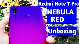 Redmi Note 7 Pro Nebula Red Unboxing | (Indian Retail Unit) Flipkart !