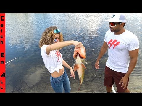 GIRLFRIEND Catches BIGGEST FISH!