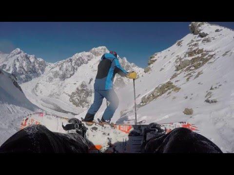 Cima presena 3069mt  - ghiacciaio discesa pista nera paradiso