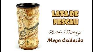 Lata de Nescau Estilo Vintage Mega Oxidada