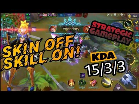 Fanny 'NO SKIN' gameplay | Strategic Cable!! | Mobile Legends Bang Bang #1