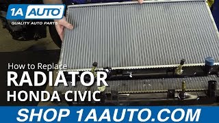 How to Replace Install Radiator 2001-05 Honda Civic