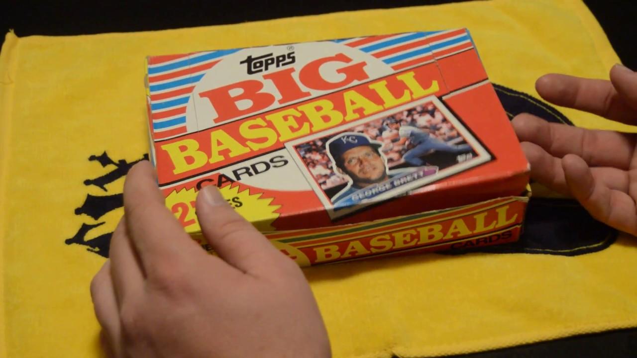 Vintage Box Break 1988 Topps Big Baseball Cards Part 1
