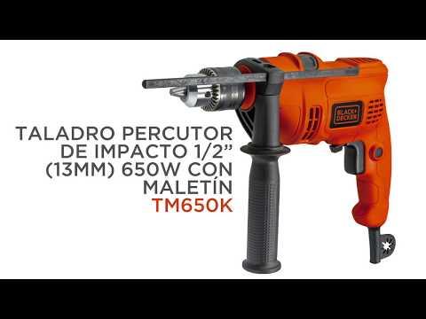 "TALADRO PERCUTOR DE IMPACTO BLACK+DECKER 1/2"" (13MM) 650W CON MALETÍN TM650K"