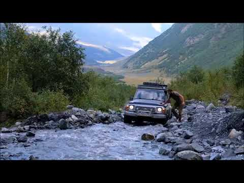 Off-road driving to MIdagrabin waterfalls in North Ossetia (Russian Caucasus)