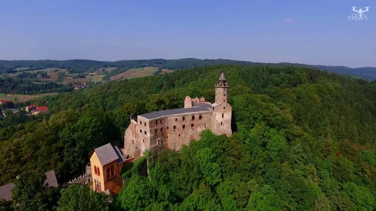 Zamek Grodno - tajemnicza twierdza białej damy - Dron ...