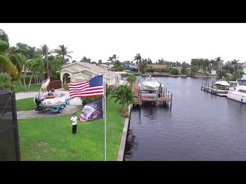 Flying a drone over cape coral