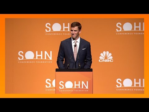 NY Giants Eli Manning honored at Sohn Investment Conference